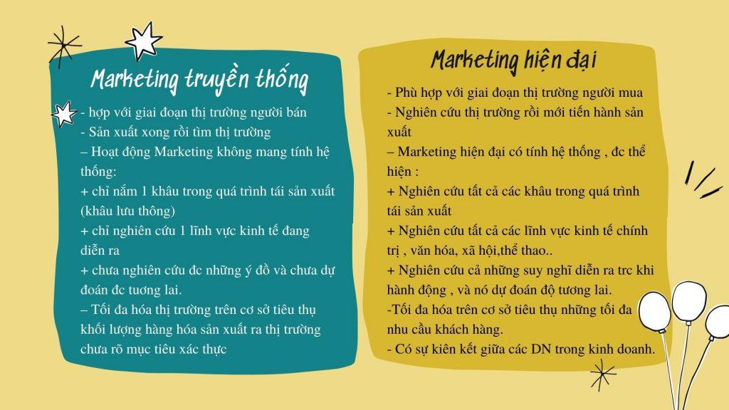 So sánh marketing hiện đại và truyền thống